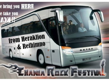 Bus service from Heraklion and Rethimno