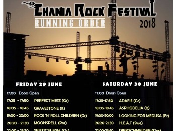 Running Order announced!