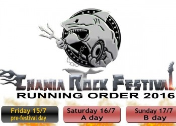 Chania Rock Festival announces the Running Order. Check it out!!
